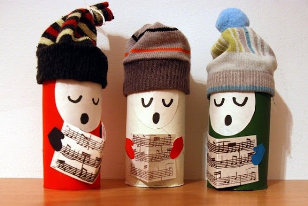 La navidad si es reciclada mola m s ideas verdes for Figuras de nieve navidenas