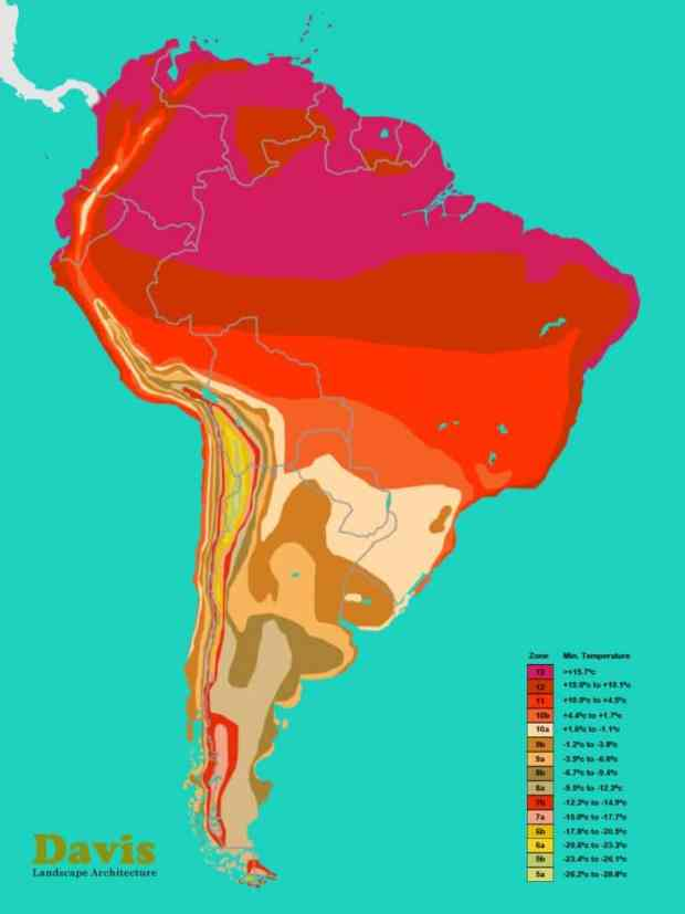 south-america-plant-hardiness-zone-map