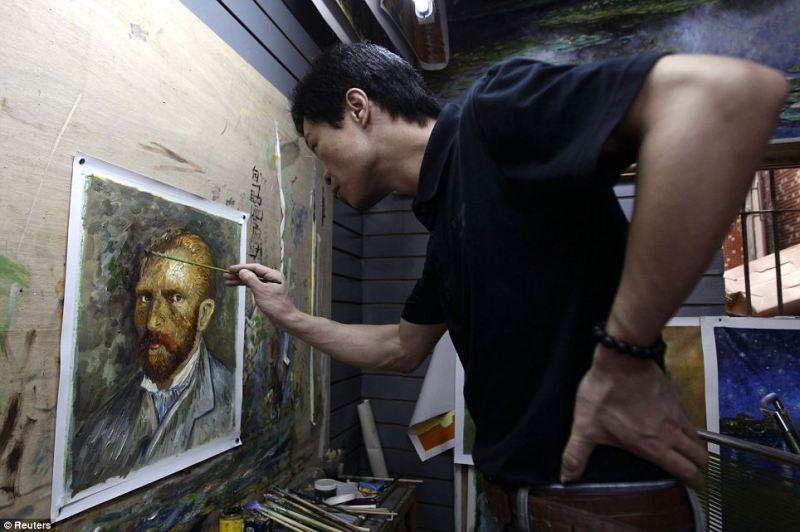 dafen oil painting village van gogh