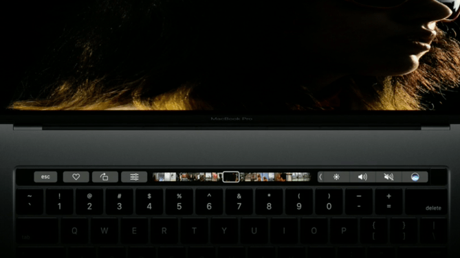 The MacBook Pro's new Touch Bar