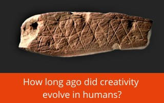 how long ago did creativity evolve in humans
