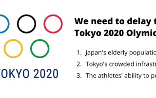 We need to delay the Tokyo 2020 Olymics_