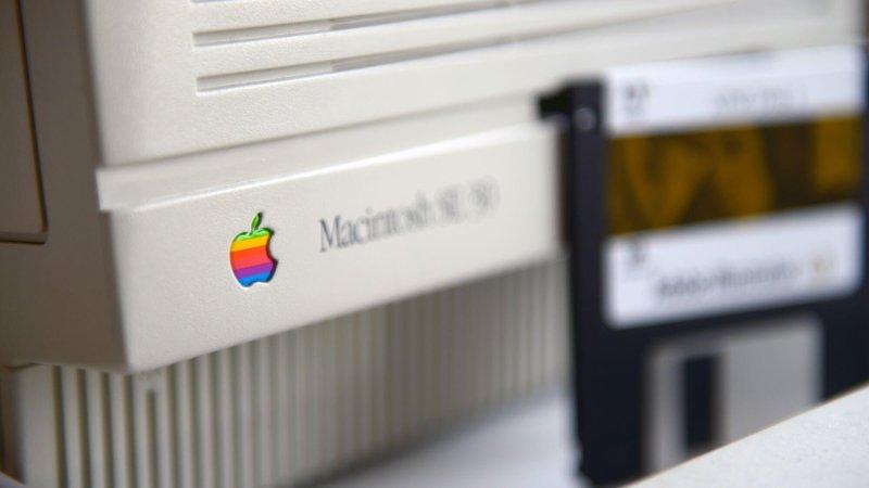 A Macintosh computer