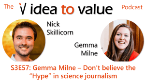 "Podcast S3E57: Gemma Milne – Don't believe the ""Hype"" in science journalism"