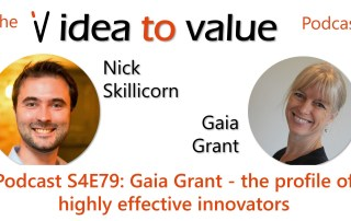 Podcast S4E79: Gaia Grant - the profile of highly effective innovators