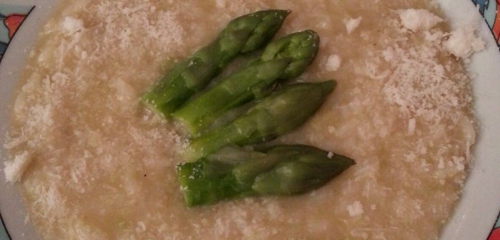 Photo de risotto aux asperges