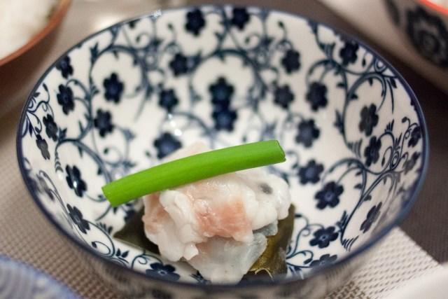 Sashimi de dorade au kombu