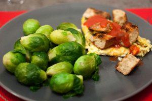 Choux de Bruxelles cuits