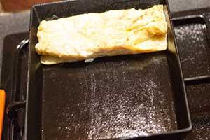 ramener le tamagoyaki en haut