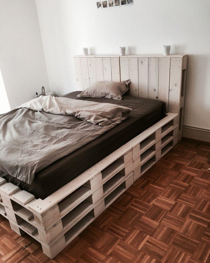 fabriquer un lit en palette tuto 50
