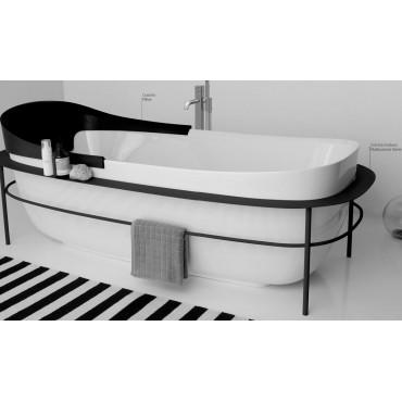 baignoire en acrylique sur pied boat 180