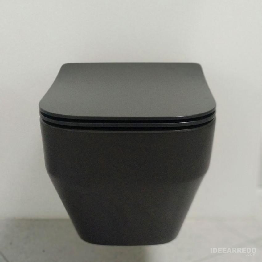 sanitaire suspendu noir mat noir wc tutto evo olympia