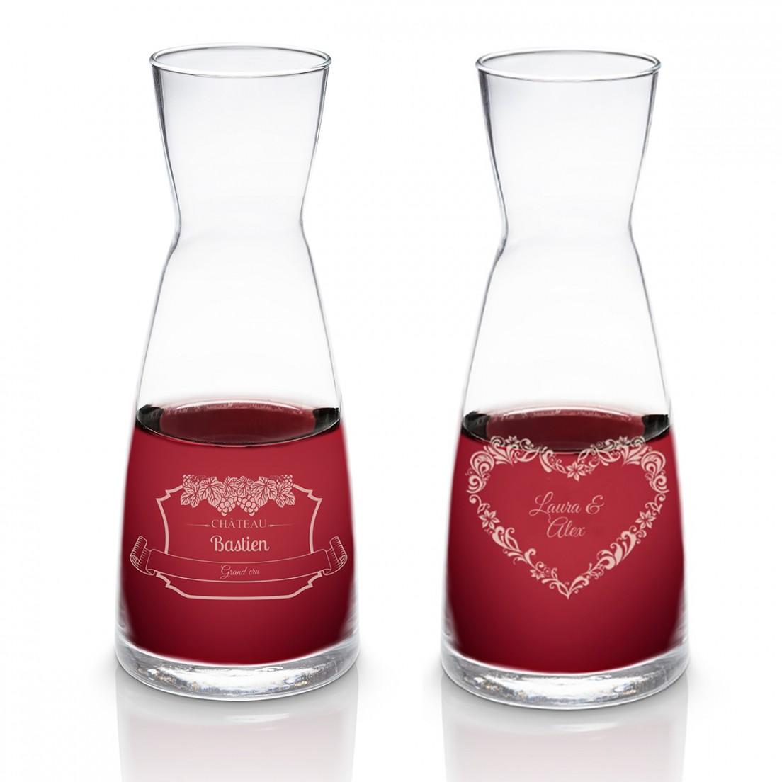 carafe a vin avec gravure personnalisee