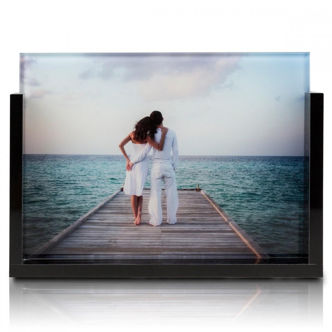 photo sur verre cadre acrylique