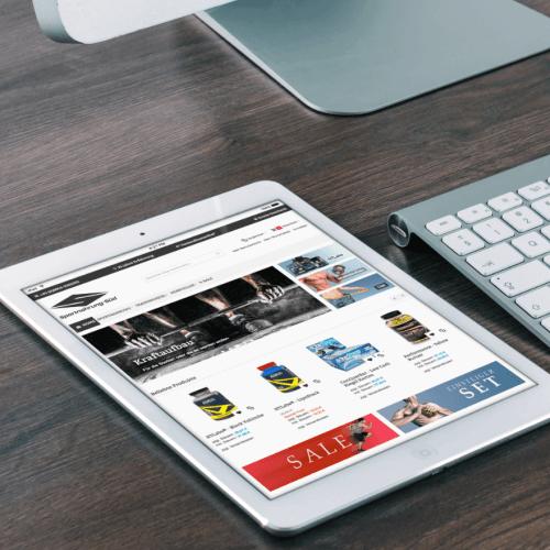 Onlineshop für eigen Produkte