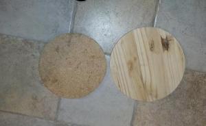dischi di legno e mdf
