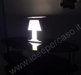 idea riciclo lampada fai da te cartone