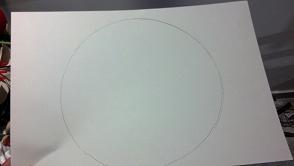 disegnare un cerchio su un cartone