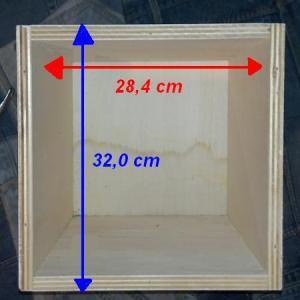 Costruire una scatola contenitore di legno da usare anche for Costruire uno scuro in legno