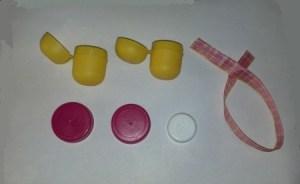 materiale per fare paperella con involucri sorprese kinder