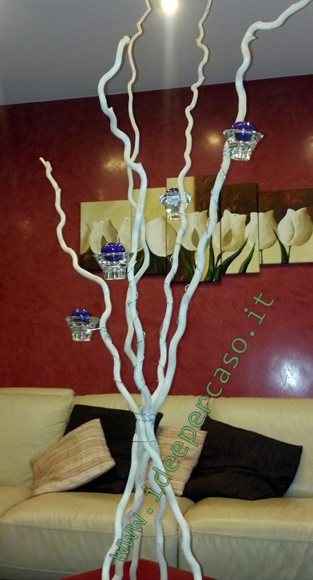porta candele con rami di legno ikea