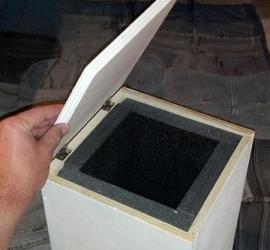 scatola contenitore di legno fai da te