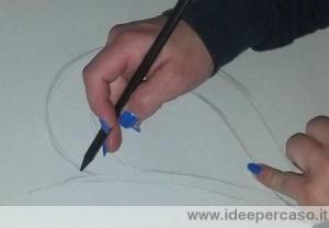 disegnare manico della tazza