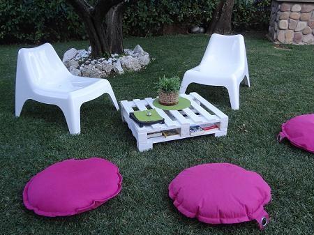 Fare un tavolo da giardino con un pallet di legno - Arredamento da giardino ikea ...