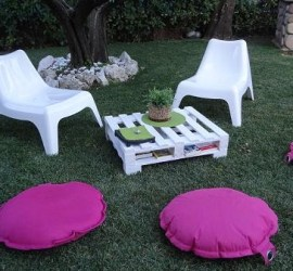 fare tavolo giardino con pallet