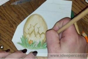 disegnare un uovo di Pasqua