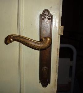 vecchia maniglia porta