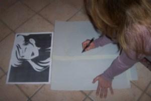 disegnare maschera su cartoncino