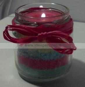 barattolo di vetro porta candela
