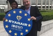 Ryanair offre sconti ed agevolazioni agli studenti universitari Erasmus