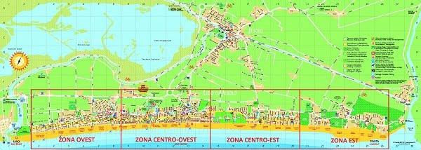 Mappa migliori zone dove alloggiare a Lido di Jesolo