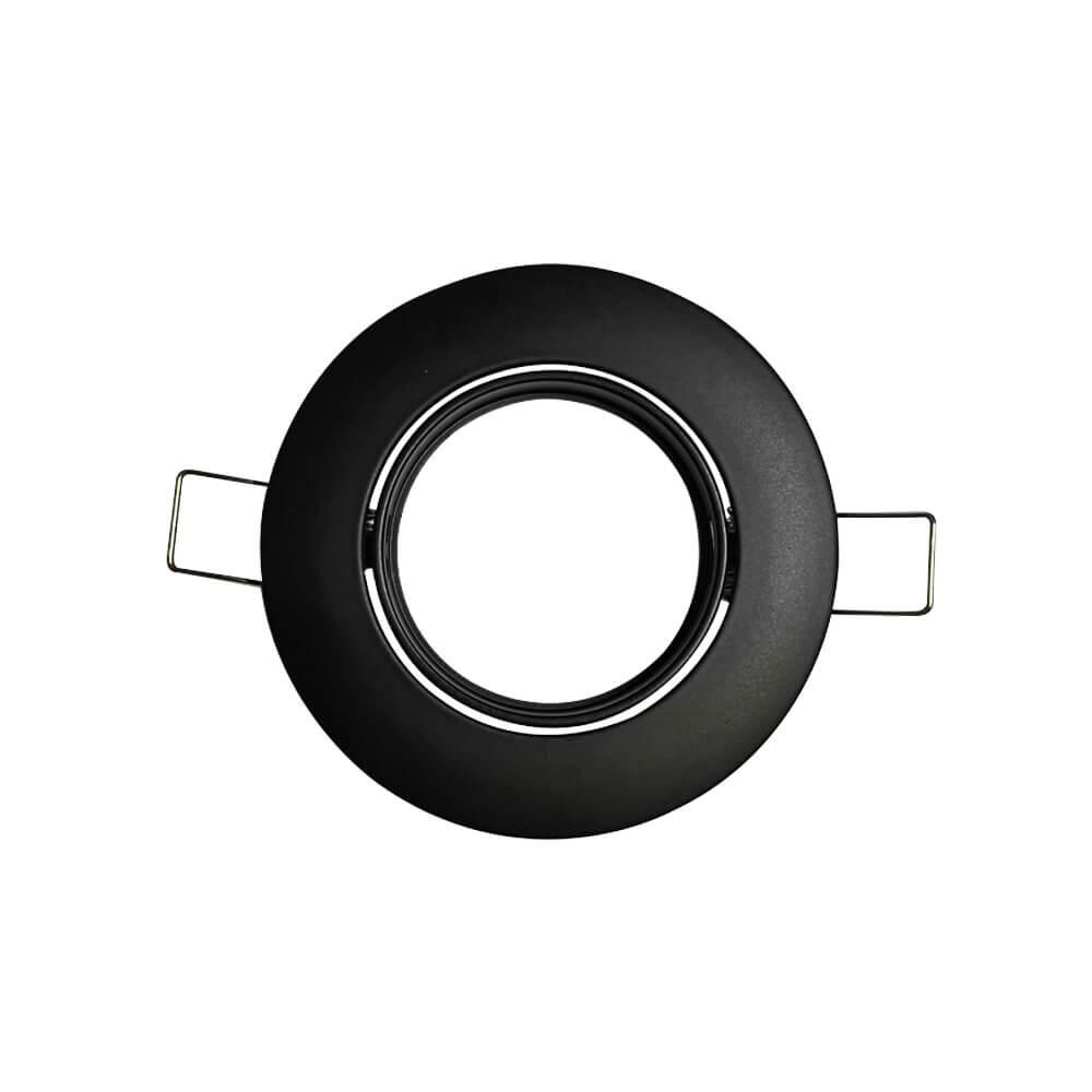 NAPLES - Collerette Ronde Orientable noire pour GU10
