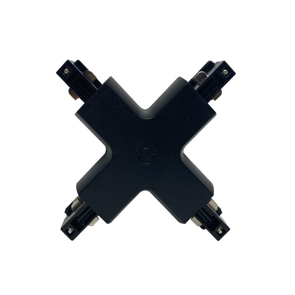 DALLAS - Coude en X Rail Triphasé Noir 220V