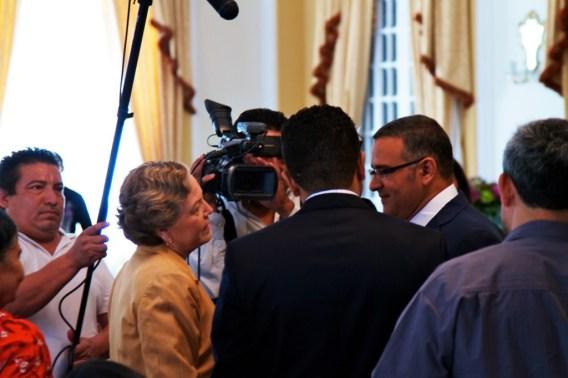 Meeting President Funes