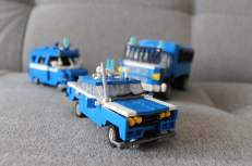 Lego Police cars with large 125p Fiat