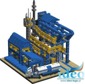 A set of Lego Melamine Azoty Puławy or your company, a factory built by Mateusz Kustra lego bricks