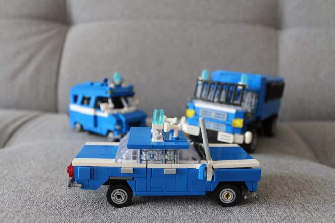 Bricks LEGO cars models Police cars with 125p Big Fiat
