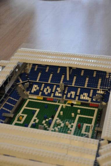 LEGO bricks model for olders, Town Stadium in Poznan build with bricks