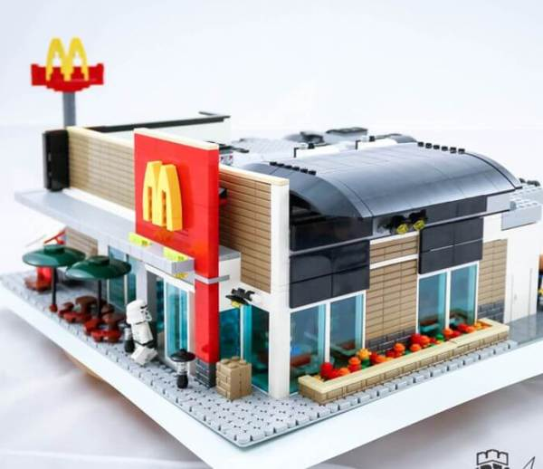 Your Hotel or Restaurant model built of LEGO® bricks