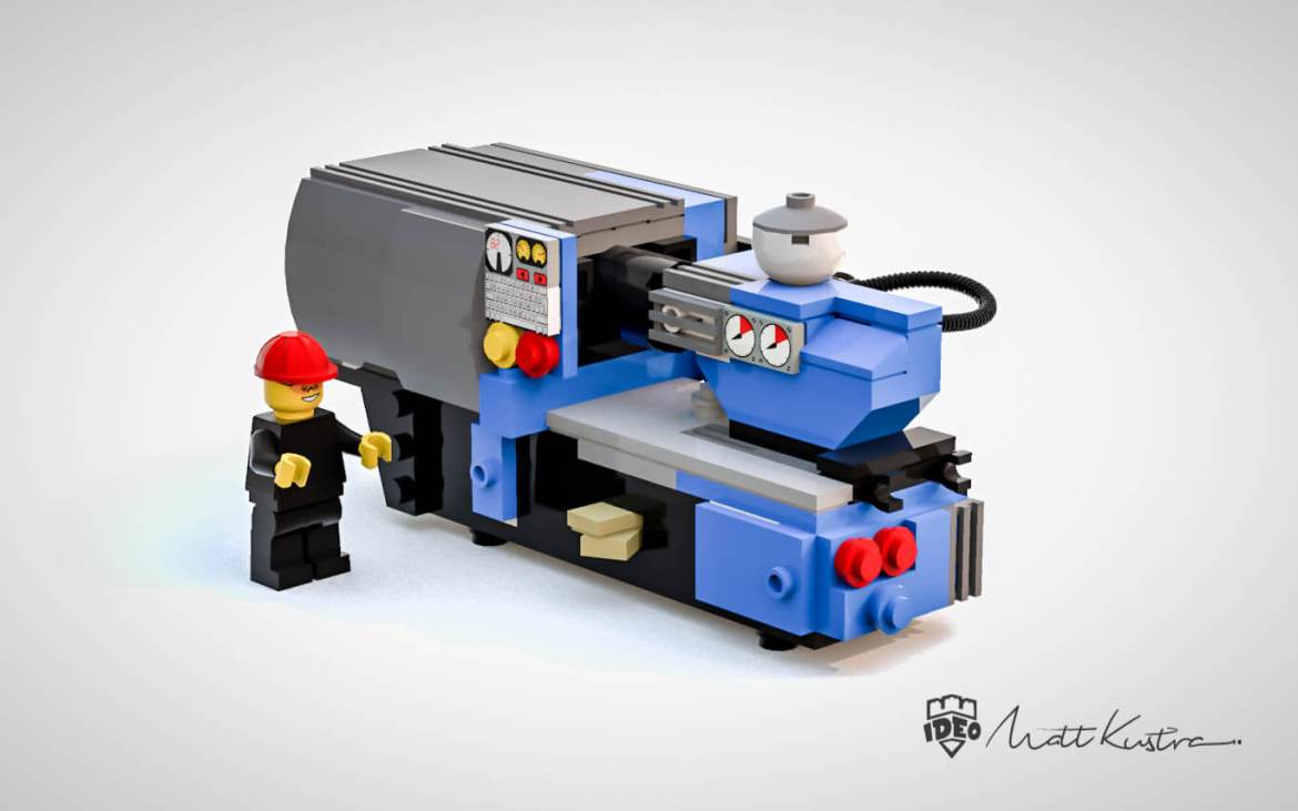 cheap lego molding machine made by Mateusz Kustra