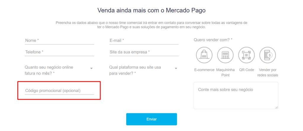 código para condições especiais Mercado Pago e Ideris