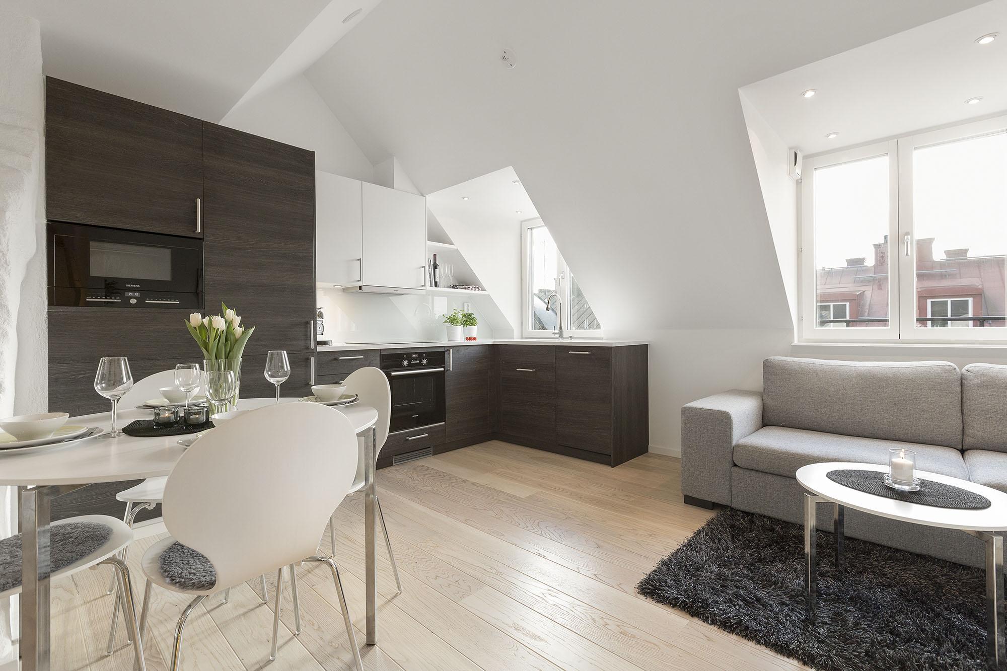 Unique Stockholm Attic Loft Apartment With Stylish Modern