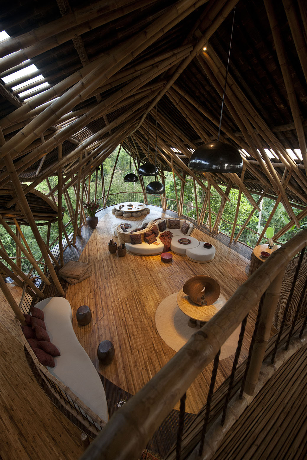 Dramatic Bamboo House In Bali Idesignarch Interior