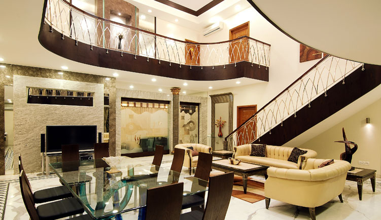 Contemporary Bungalow In India With A Touch Of Traditional ...