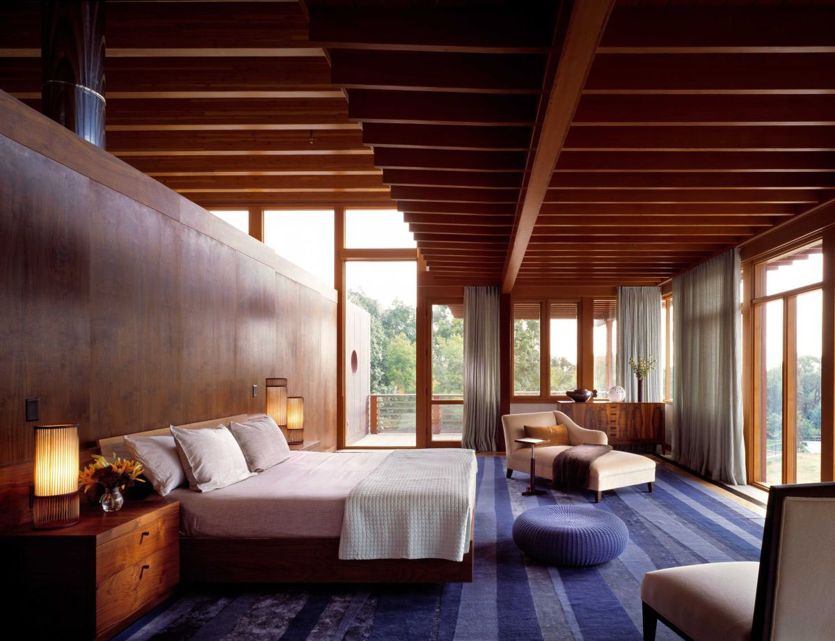 Contemporary Stone And Wood House15