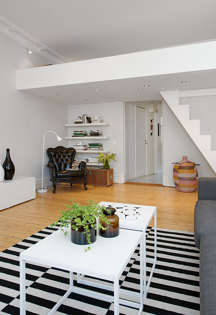 Custom Built Small Loft Apartment In Stockholm